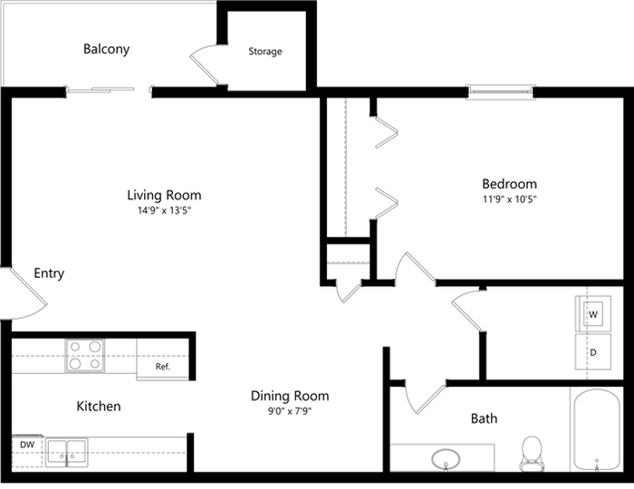 The Pullman Floor Plan Image